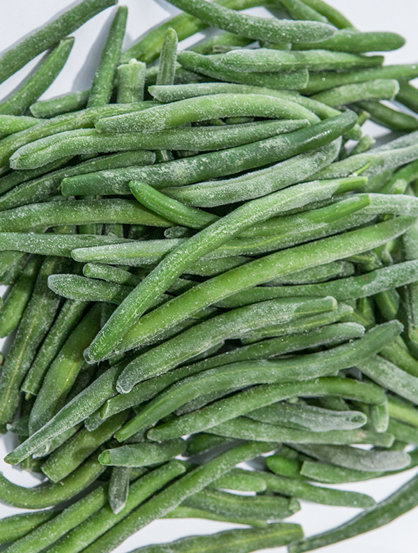 What is the processing procedure for quick-frozen vegetables?
